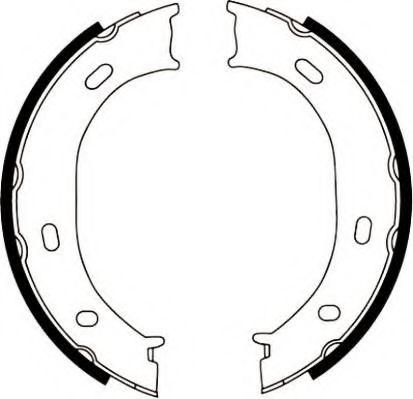 Комплект тормозных колодок, стояночная тормозная система арт.