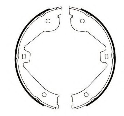 Комплект тормозных колодок, стояночная тормозная система JURID арт.