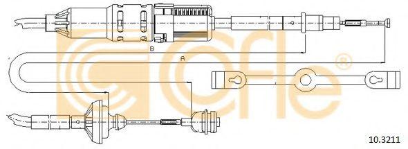 Трос, управление сцеплением COFLE арт. 103211