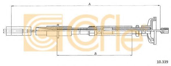 Трос, управление сцеплением COFLE арт. 10339