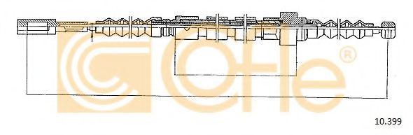 Трос, стояночная тормозная система COFLE арт. 10399
