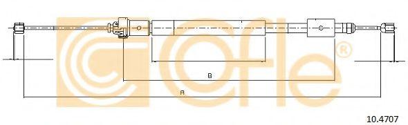 Трос, стояночная тормозная система COFLE арт. 104707