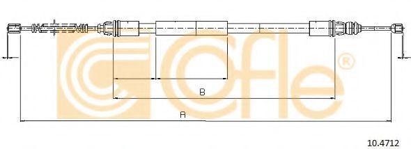 Трос, стояночная тормозная система COFLE арт. 104712
