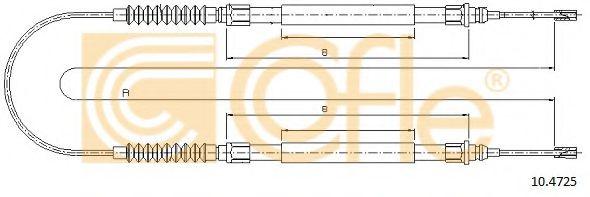 Трос, стояночная тормозная система COFLE арт. 104725