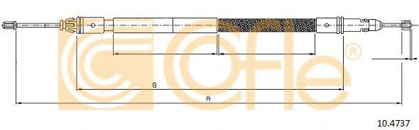 Трос, стояночная тормозная система COFLE арт. 104737