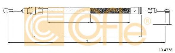 Трос, стояночная тормозная система COFLE арт. 104738