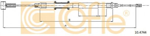 Трос, стояночная тормозная система COFLE арт. 104744