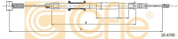 Трос, стояночная тормозная система COFLE арт. 104745