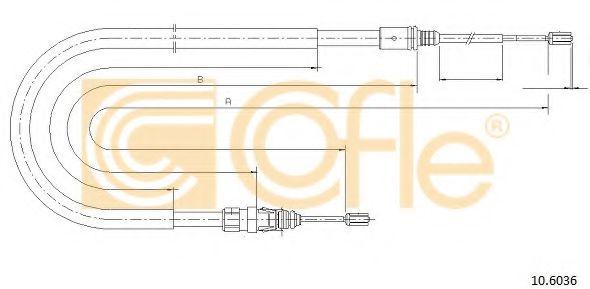 Трос, стояночная тормозная система COFLE арт. 106036