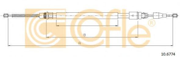 Трос, стояночная тормозная система COFLE арт. 106774