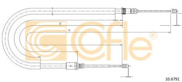Трос, стояночная тормозная система COFLE арт. 106791