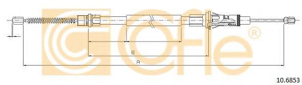 Трос, стояночная тормозная система COFLE арт. 106853