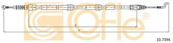 Трос, стояночная тормозная система COFLE арт. 107394