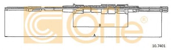 Трос, стояночная тормозная система COFLE арт. 107401