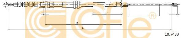 Трос, стояночная тормозная система COFLE арт. 107433
