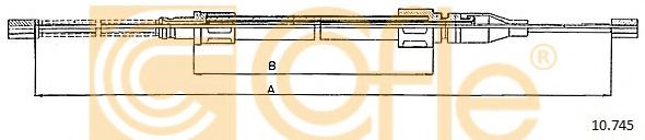 Трос, стояночная тормозная система COFLE арт. 10745