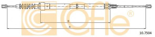 Трос, стояночная тормозная система COFLE арт. 107504