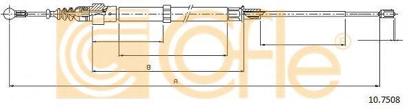 Трос, стояночная тормозная система COFLE арт. 107508