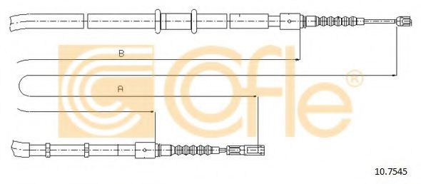 Трос, стояночная тормозная система COFLE арт. 107545