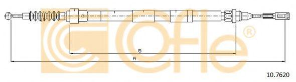 Трос, стояночная тормозная система COFLE арт. 107620