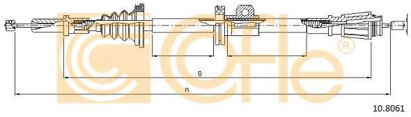 Трос, стояночная тормозная система COFLE арт. 108061