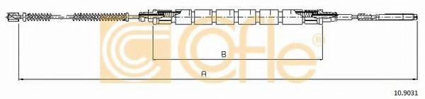 Трос, стояночная тормозная система COFLE арт. 109031