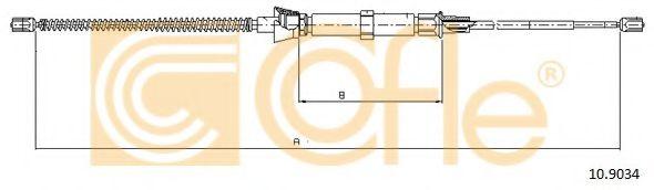 Трос, стояночная тормозная система COFLE арт. 109034