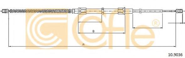 Трос, стояночная тормозная система COFLE арт. 109036