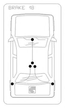 Трос, стояночная тормозная система COFLE арт. 106854