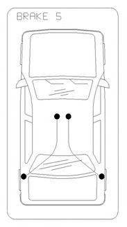 Трос, стояночная тормозная система COFLE арт. 175028