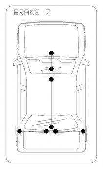 Трос, стояночная тормозная система COFLE арт. 116813