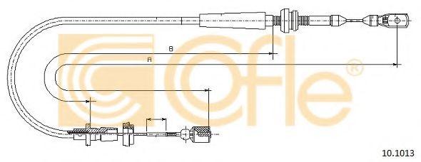 Тросик газа COFLE арт. 101013