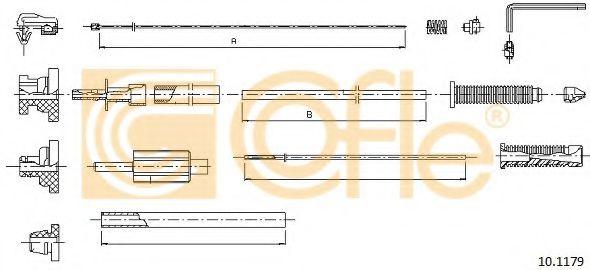 Тросик газа COFLE арт. 101179