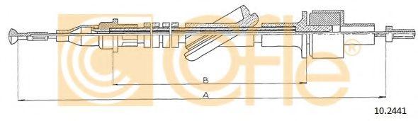Трос, управление сцеплением COFLE арт. 102441