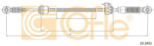 Трос, ступенчатая коробка передач COFLE арт. 102451