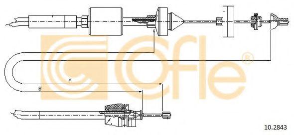 Трос, управление сцеплением COFLE арт. 102843