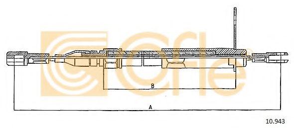 Трос, стояночная тормозная система COFLE арт. 10943