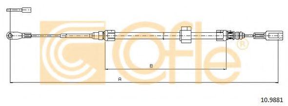Трос, стояночная тормозная система COFLE арт. 109881