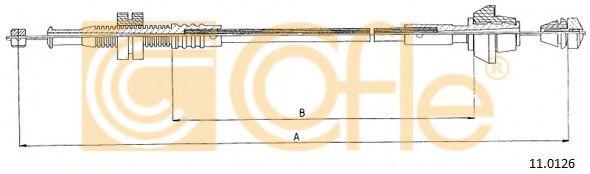 Тросик газа COFLE арт. 110126