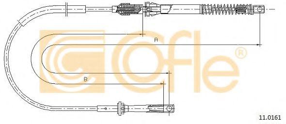 Тросик газа COFLE арт. 110161