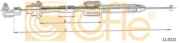 Тросик газа COFLE арт. 110221