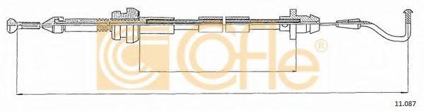 Тросик газа COFLE арт. 11087