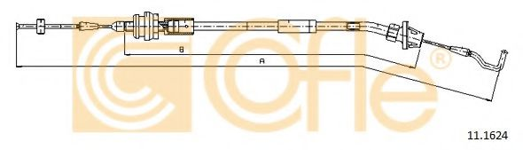 Тросик газа COFLE арт. 111624