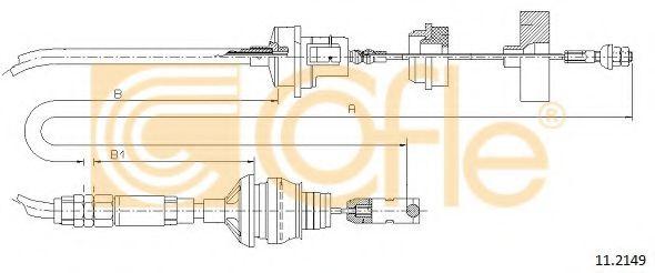 Трос, управление сцеплением COFLE арт. 112149
