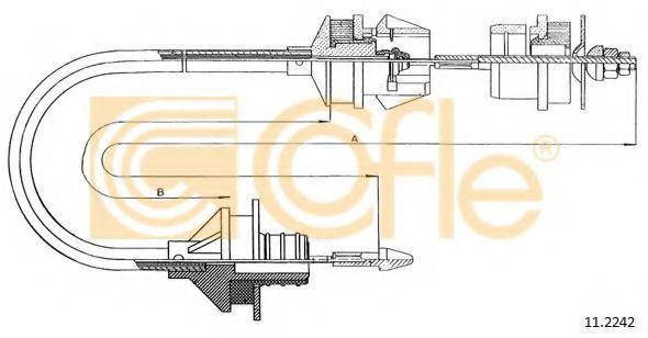 Трос, управление сцеплением COFLE арт. 112242