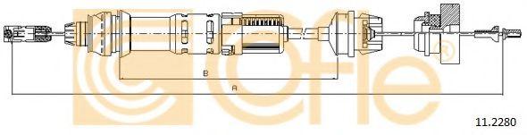 Трос, управление сцеплением COFLE арт. 112280