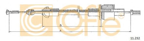 Трос, управление сцеплением COFLE арт. 11232