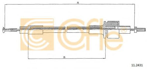 Трос, управление сцеплением COFLE арт. 112431