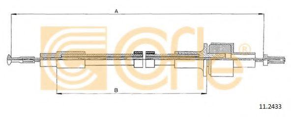 Трос, управление сцеплением COFLE арт. 112433