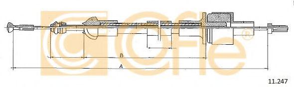 Трос, управление сцеплением COFLE арт. 11247